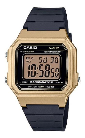 Relógio Casio Masculino Digital W-217hm 9avdf Dourado