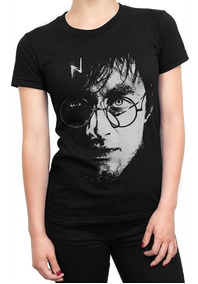 Camiseta Feminina Harry Potter Baby Look Filmes Blusa