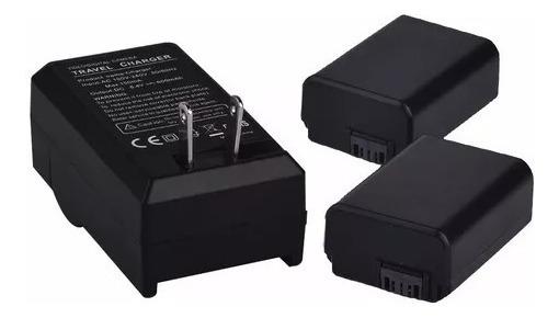 2x Duas Bateria Np-fw50 Alpha Sony A6000 A6300 + Carregador