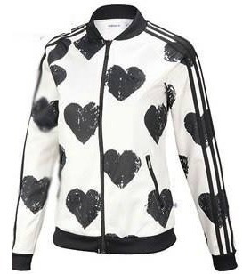 Chamarra adidas Firebird Hearts White+ Envio Gratis