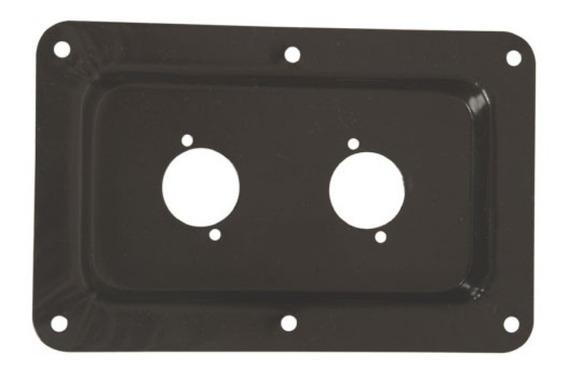 4 Espelhos P/ Conector Xlr 2 Furos