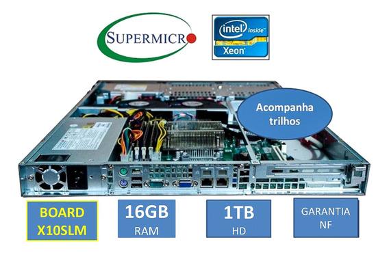 Servidor Supermicro Board X10 1u Xeon 16gb Ram 1tb Sem Juros