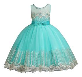Vestido Infantil Dama Daminha Bordado Casamento Aniversário
