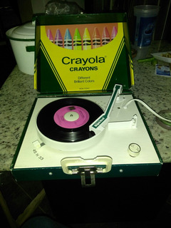 Tocadiscos Crayola Crayons 1981 Vintage.