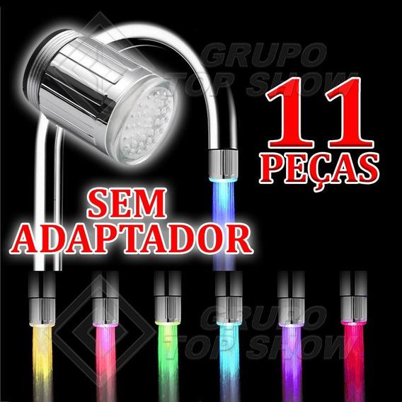 11 Pçs Torneira Luz Colorida Bico Led Iluminacao Cores 24mm