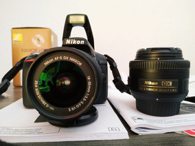 Nikon Completa + 2 Lentes + Nf + Caixa + Acessórios.