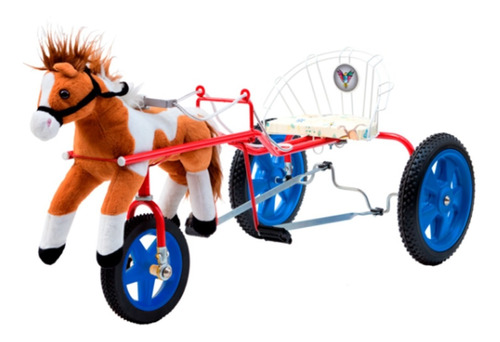 Karting Sulky Caballo Peluche Infantil A Pedal Katib 3a6 Año