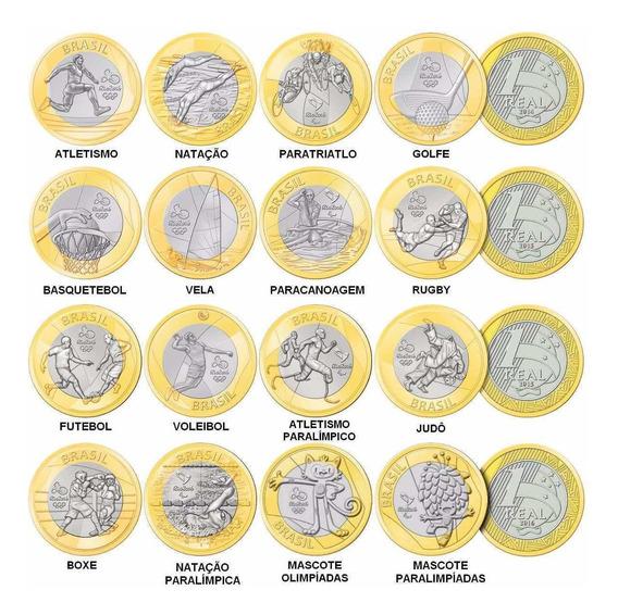 Moedas Comemorativas Das Olimpíadas Lote Com 4 Unidades