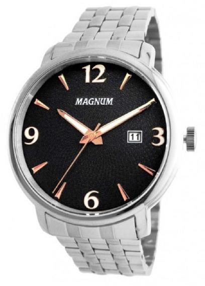 Relógio Magnum Masculino Calendário Analógico