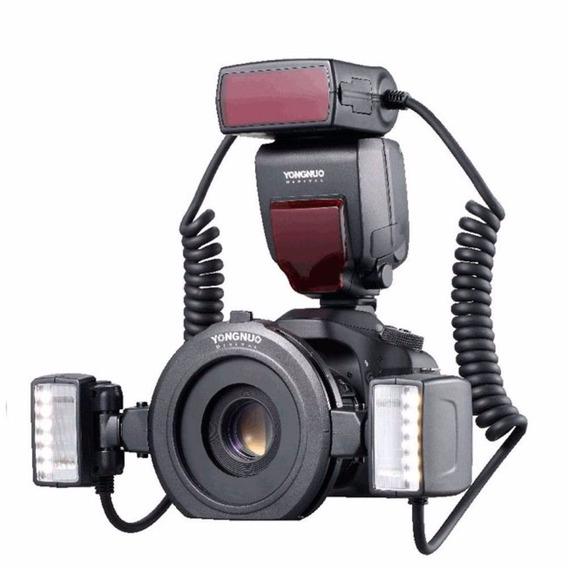 Flash Macro Yongnuo Yn-24ex Twin Flash Led Para Canon