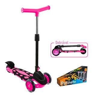 Patinete Infantil Scooter Power 3 Rodas C/ Freio Dobravel