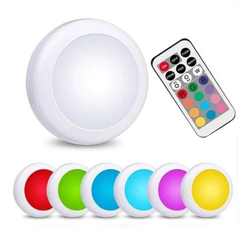 Imagen 1 de 6 de Lampara Para Armario Con Sensor Táctil + Control Remoto Rgb.