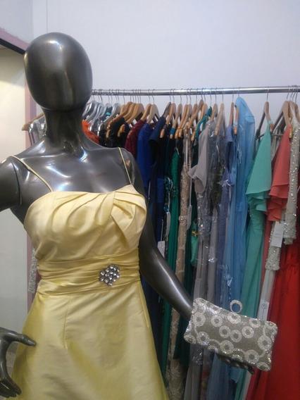Vestido De Fiesta Largo Amarillo Limon