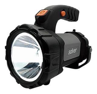Lanterna Holofote Led Cree 3x1 Recarregável Slp-401 Solver