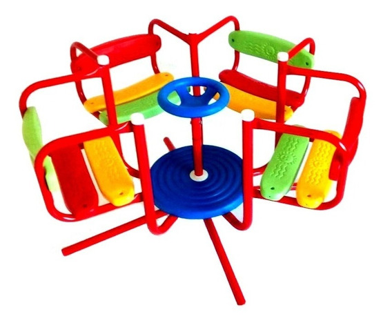 Calesita Infantil Caño Reforzado Listones Plasticos 1 Entrad