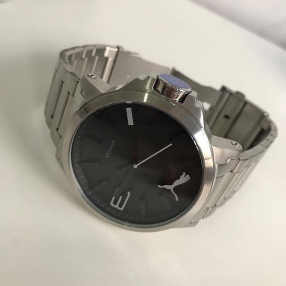 Relógio Puma Prata Detalhe Branco !