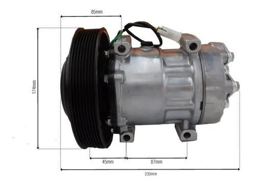 Imagem 1 de 6 de Compressor Do Ar Condicionado Volvo Fh Polia 8pk 180mm