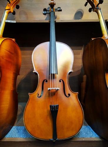 Cello/violoncello  4/4 Todo Sólido Con Funda Y Arco,