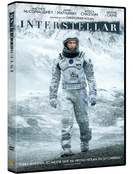 Interestelar Christopher Nolan Pelicula Dvd