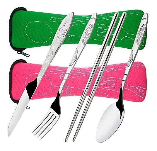 8 Piezas Juegos De Cubertería, Cuchillo Tenedor Cuchara Pal