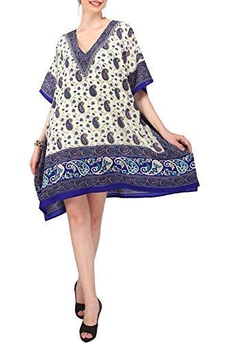 De Las Mujeres Kaftan Tunica Kimono Vestido Noche De Verano