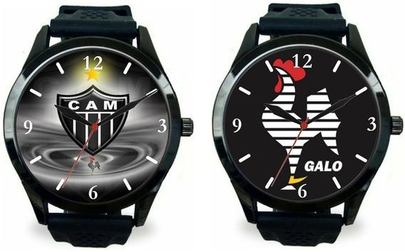 Kit 2 Relógios Pulso Esportivo Atlético Mineiro Barato Novo