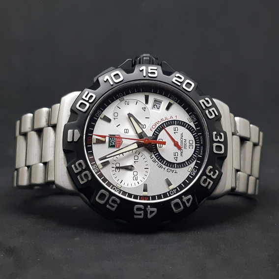 Tag Heuer Formula 1 Chronograph Silver 41mm Completo
