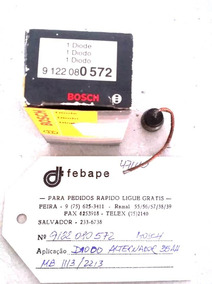 Diodo Alternador Positivo 35 Amp Bosch - Mb 1113/2213