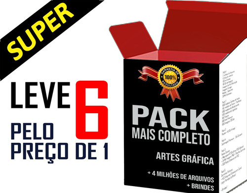 Imagem 1 de 10 de Pack Completo Artes Gráfica Vetores Estampa Imagens Santinho