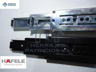 Correderas Telescopicas Hafele 400 Mm Zinc O Negro - 36k-par