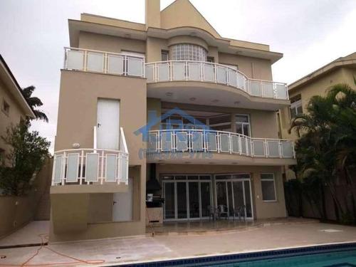 Sobrado Com 4 Dormitórios À Venda, 750 M² Por R$ 3.800.000,00 - Alphaville Residencial 2 - Barueri/sp - So1357