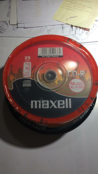 Maxell Music 25 Cds Virgens Áudio Recordable Originais
