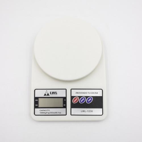 Imagen 1 de 5 de Bascula Digital Gramera Hardwork 10kg Incluye Baterias