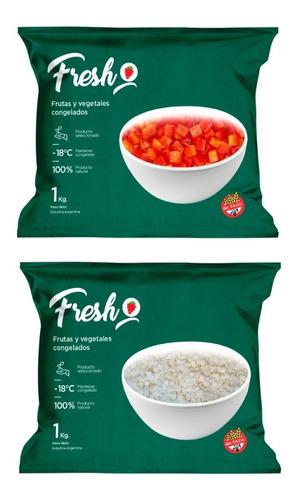 Morron Y Cebolla Cubeteada Congelada Iqf Fresh X 1kg C/u