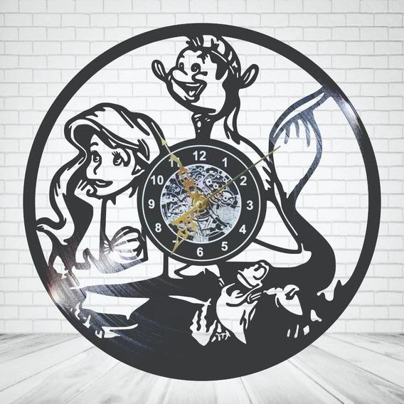 Reloj Vinil Pared Ariel La Sirenita Envío Gratis