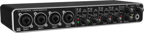 Interface De Audio U-phoria Umc 404hd - Behringer - Com Nota Fiscal E Garantia De 2 Anos Proshows !