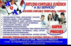 Estudio Contable Contador Asesoria Sunat, Precios Comodos