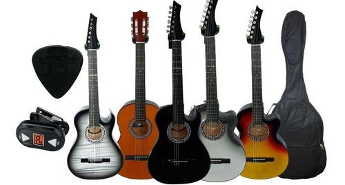 Guitarra Acustica +afinador+forro+colgador+pua+capodastro
