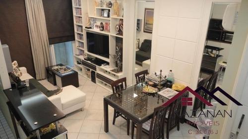 Imagem 1 de 13 de Apartamento 02 Dormitórios - Flat No Gonzaga Santos - 4652