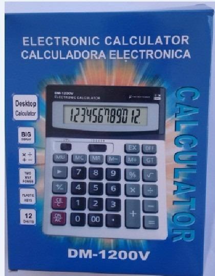Calculadora De Mesa Solar 12 Dígitos