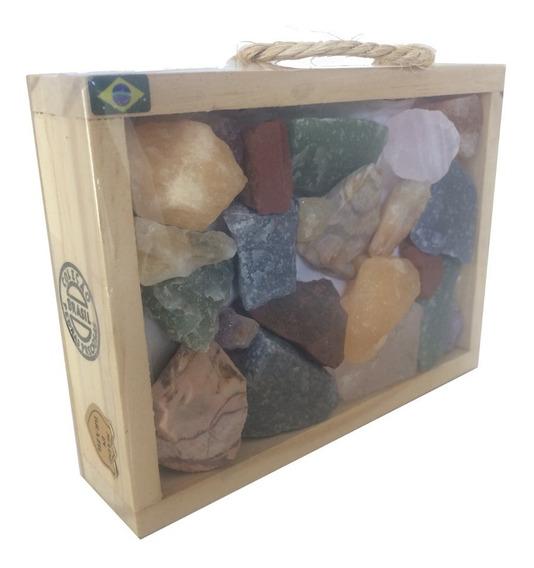 Colecao Pedras Brasileiras Mistas Brutas Ametista 565g F1