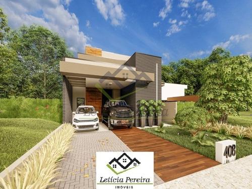 Casa Térrea 3 Dorms,  Nova Condomínio Aruã Brisa Ii, Fino Acabamento!!! R$ 1100.000,00 - Ca00123 - 69347339