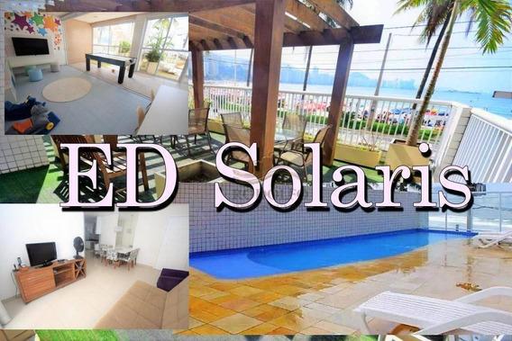 Guarujá Astúrias!!! 3 Dts Sendo 1 Suite, Frente Ao Mar, 2 Vagas, Lazer Completo E Baixo Custo Mensal. - Ap0804
