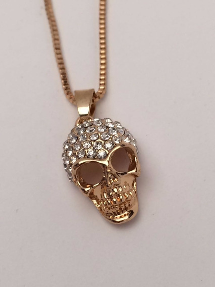 50%+20% Collar Calavera Circonia Accesorios Twist Side