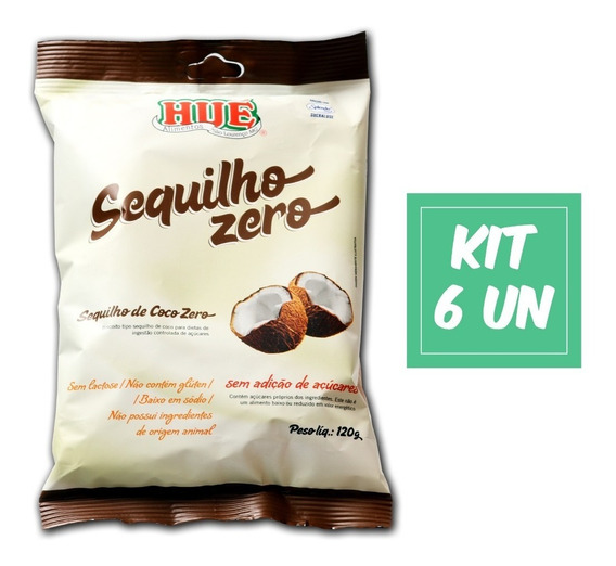 Kit 6 Sequilho De Coco Zero Hué Sem Glúten E Vegano