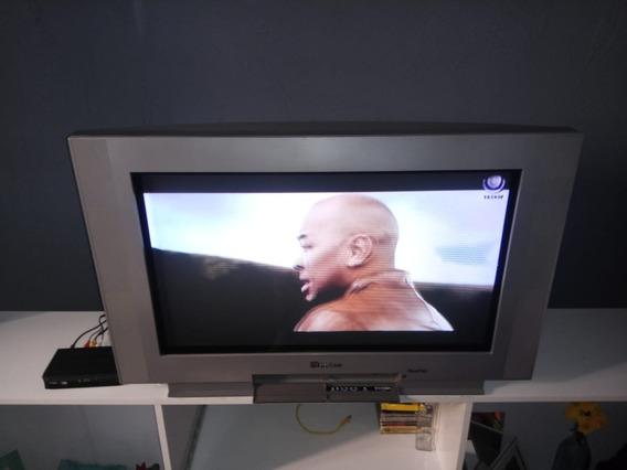 Tv De Tubo Crt 32 Polegadas Wide Screen Real Flat - Philco