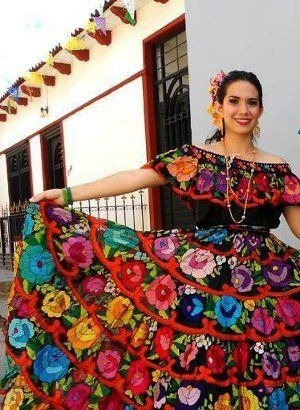 Traje Tradicional Chiapaneco De Petatillo Para Dama