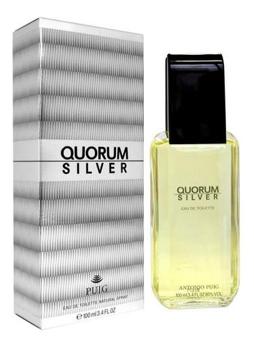 Imagen 1 de 1 de Perfume Original Quorum Silver Men 100ml