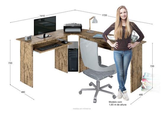 Mesa Escrivaninha Estação De Trabalho De Canto Em L 5 Cores