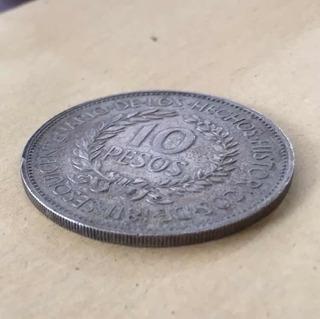 Moneda Plata Uruguay Gaucho Héroe Nacional 1961 Excelente
